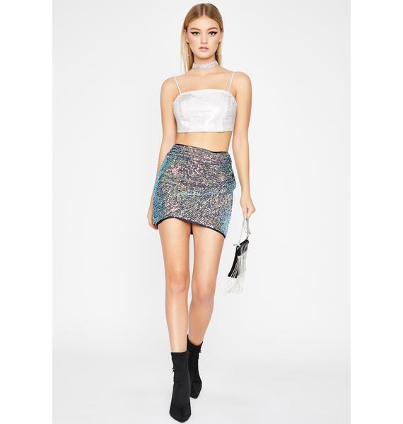 Glamorous Glimmer Sequin Skirt