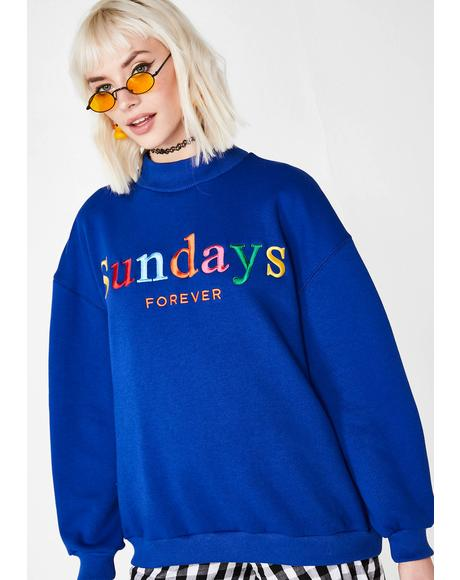 Sundays Forever High Neck Sweater