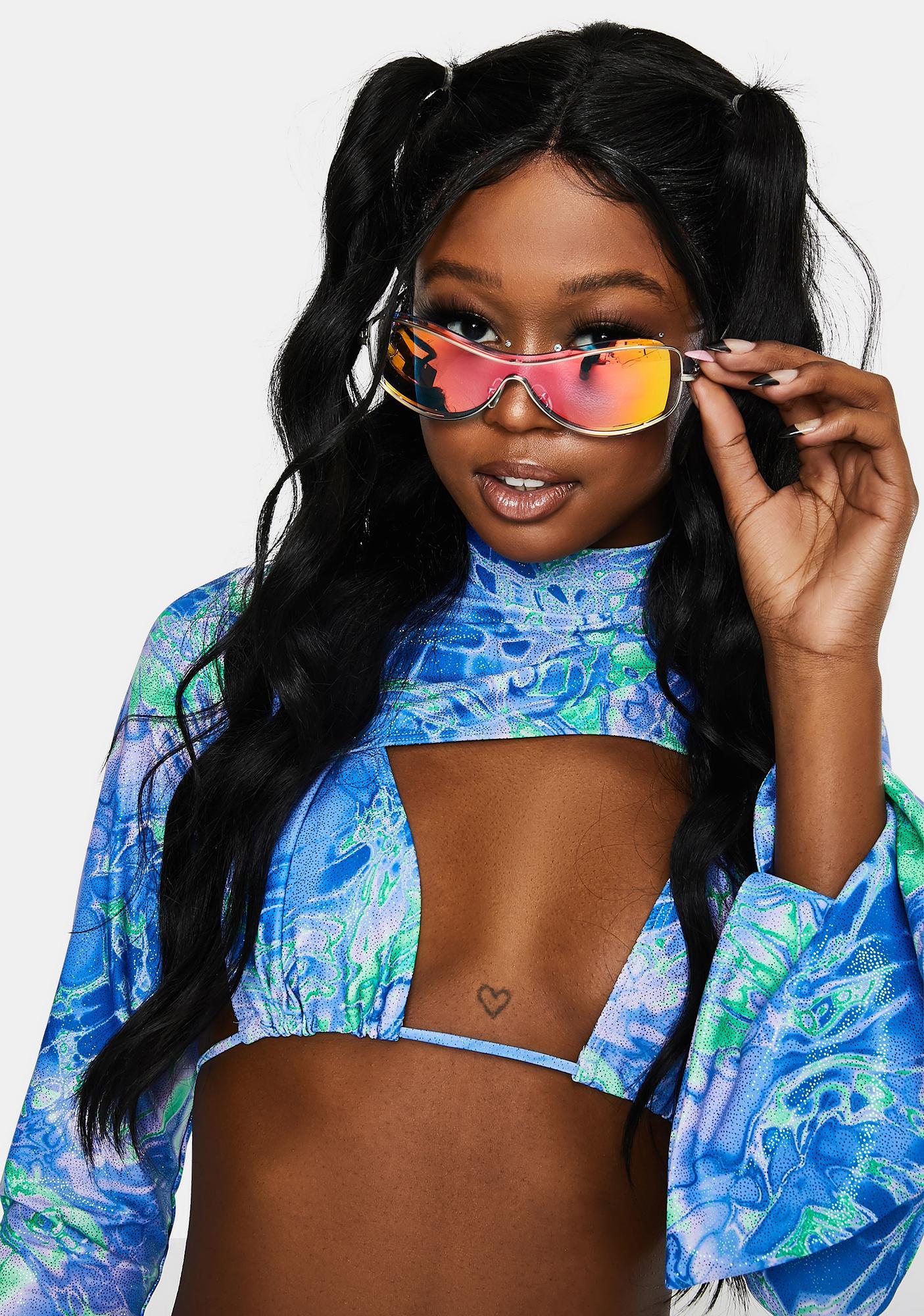 Cobalt Future Couture Shield Sunglasses