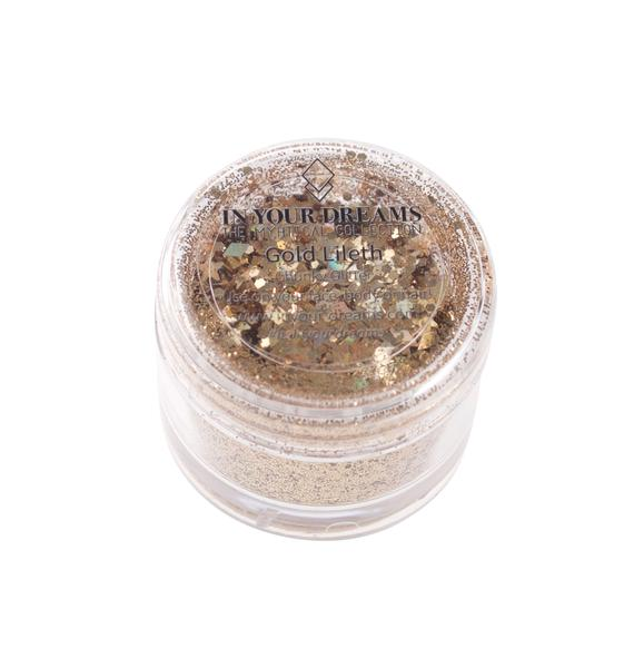In Your Dreams Gold Lilith Chunky Glitter Gel