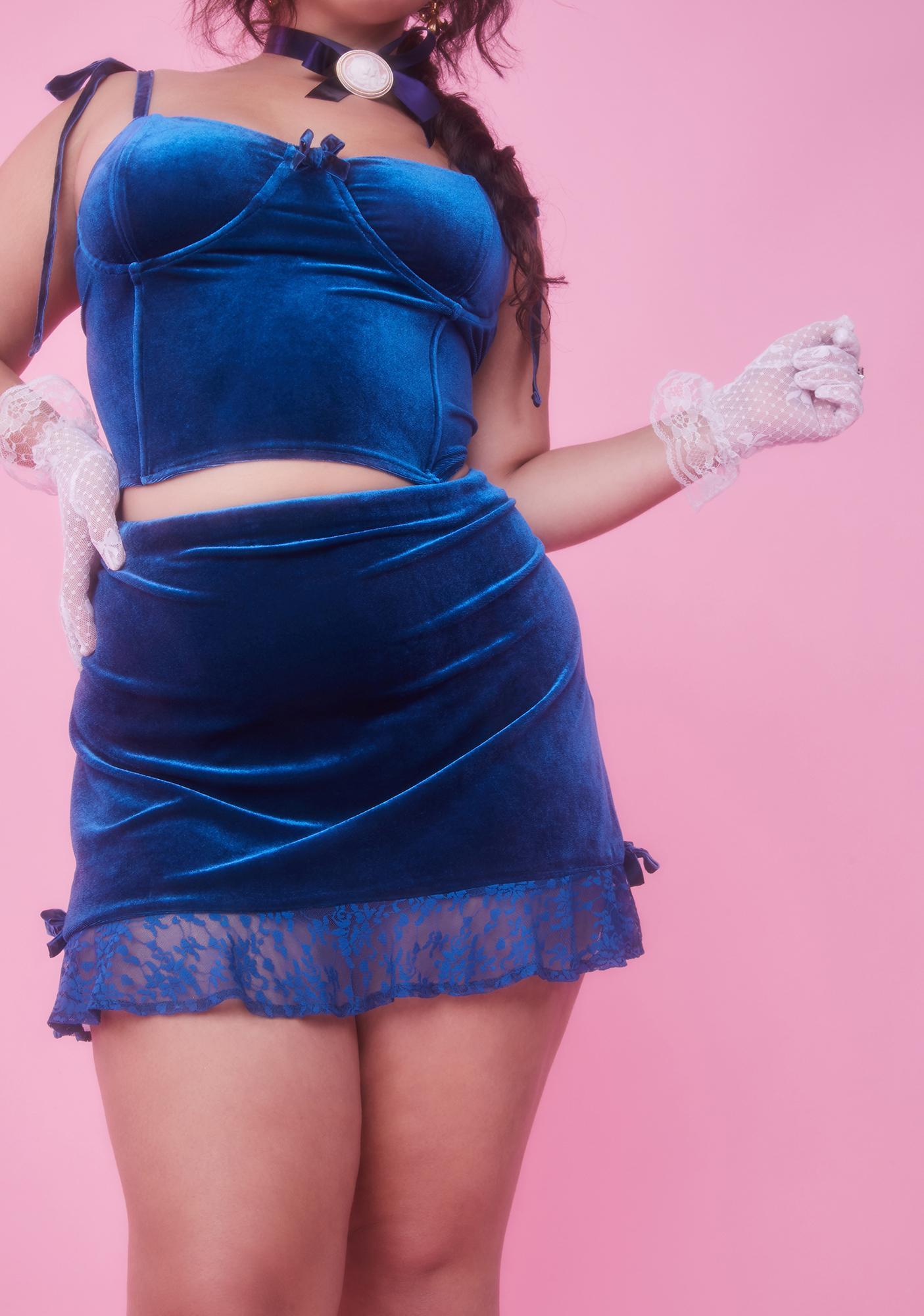 Sugar Thrillz Please Kiss Me Awake Velvet Skirt