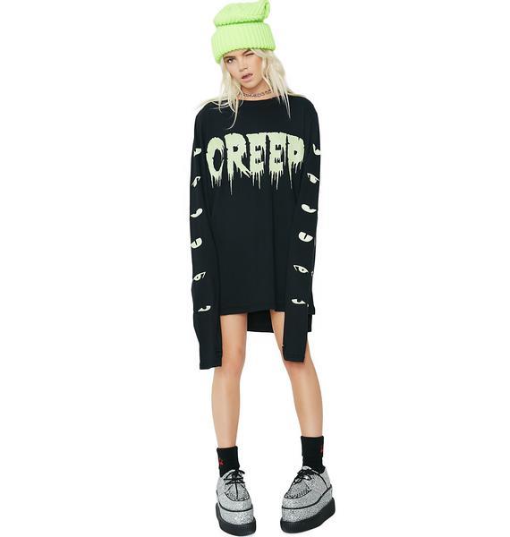 Dolls Kill Peepin' Creep Long Sleeve Tee