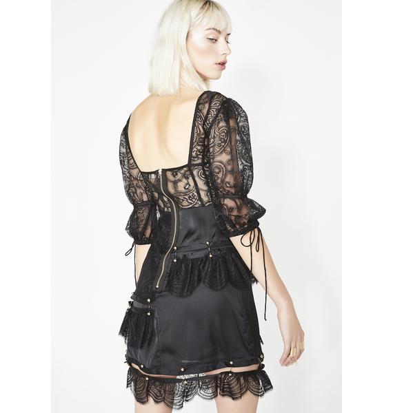 For Love & Lemons Sabina Tiered Mini Dress