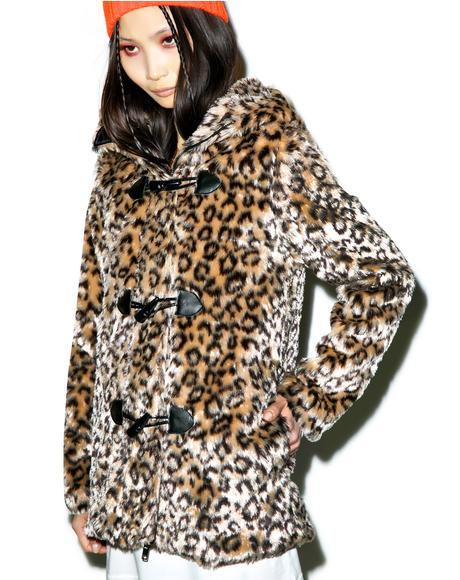 Wild Leopard Cat Hooded Jacket