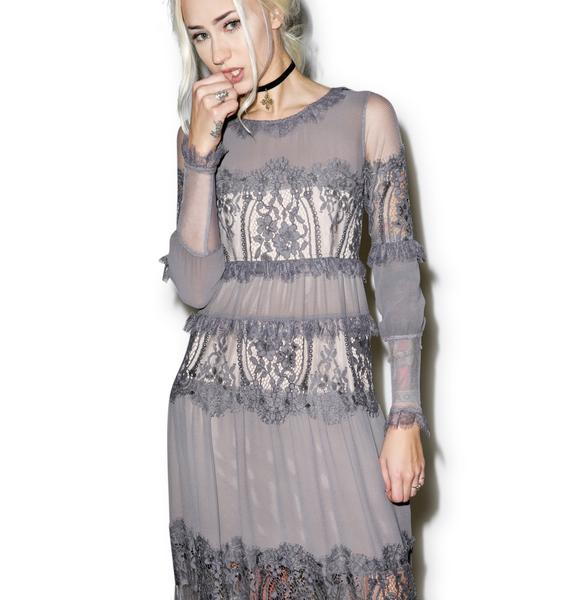 For Love & Lemons Slate Alexa Maxi Dress