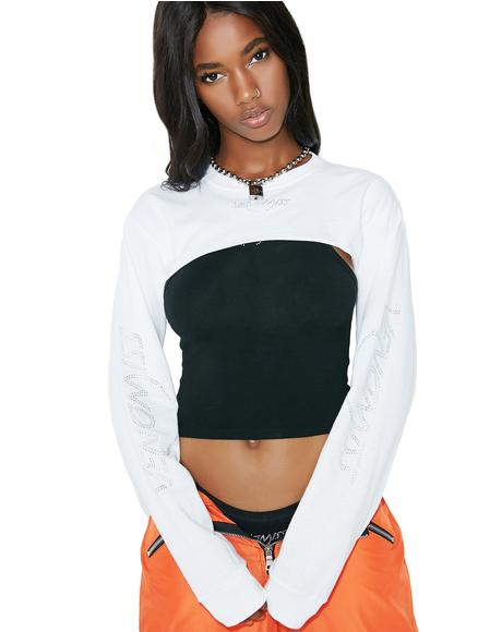 Super Cropped Long Sleeve Tee