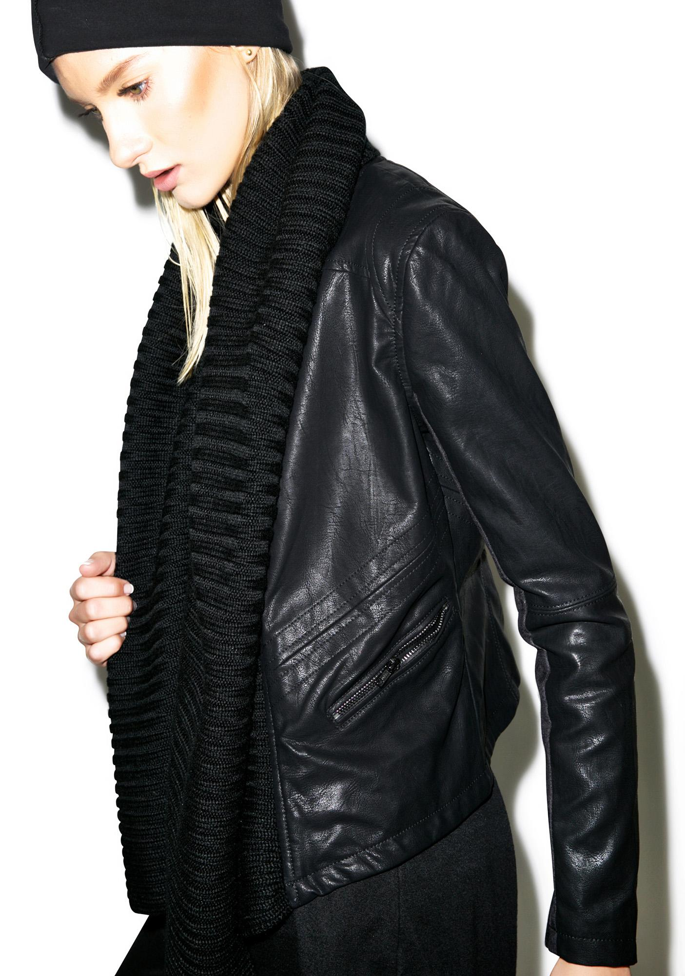 Blank NYC Mixed Media Faux Leather Jacket