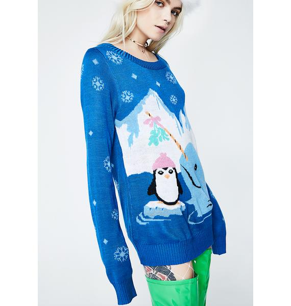 Tipsy Elves Dreamy Narwhal Sweater