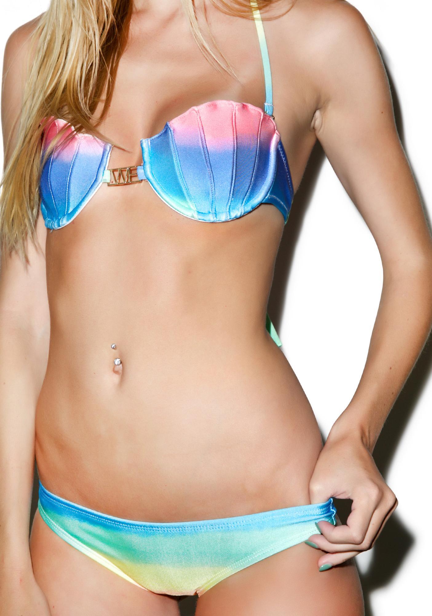 Wildfox Couture Pastel Tie Dye Bikini Bottom