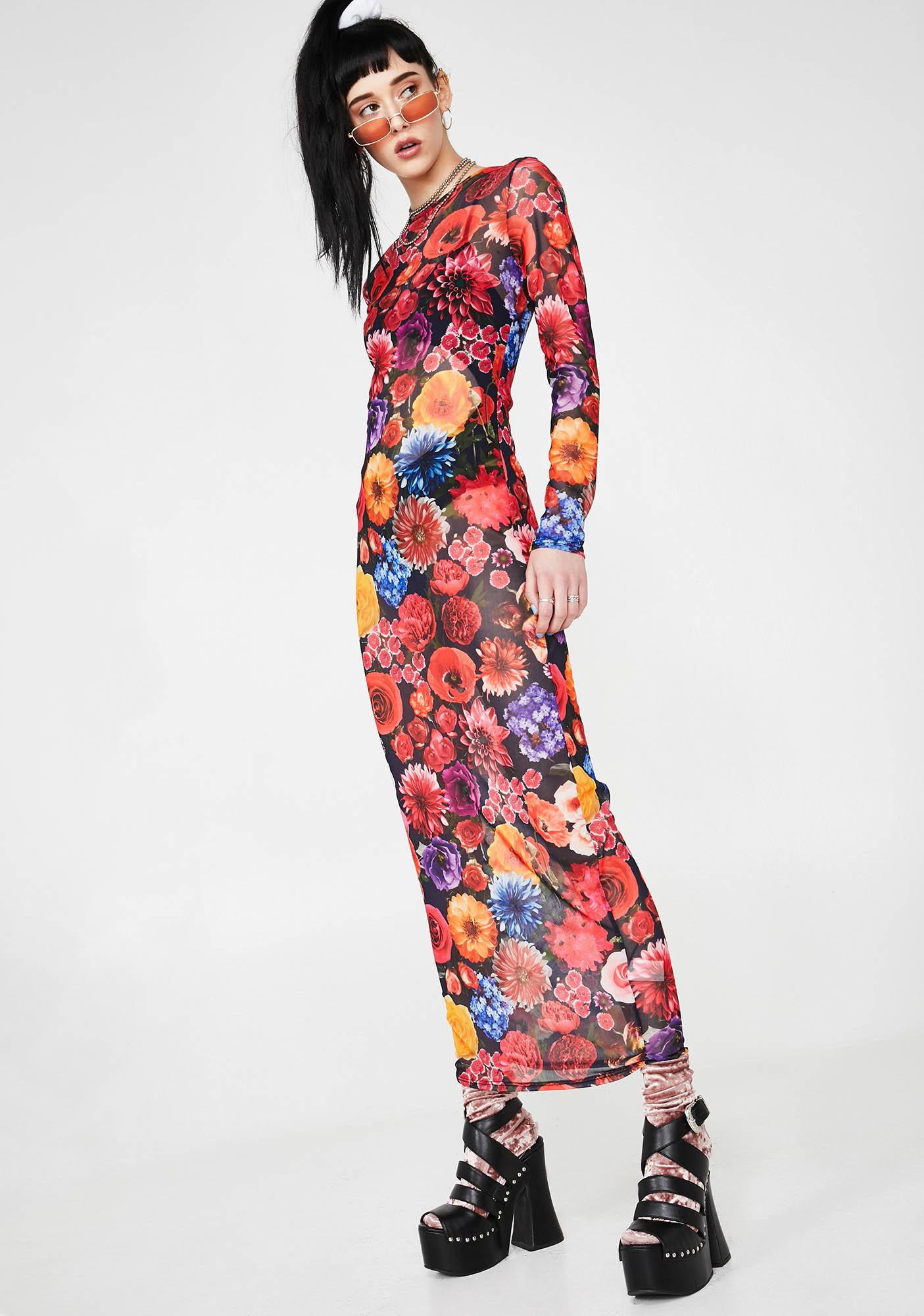 b48ba2b919f Sheer Floral Maxi Dress