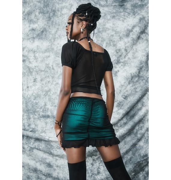 dELiA*s by Dolls Kill Spell It Out Mesh Mini Skirt