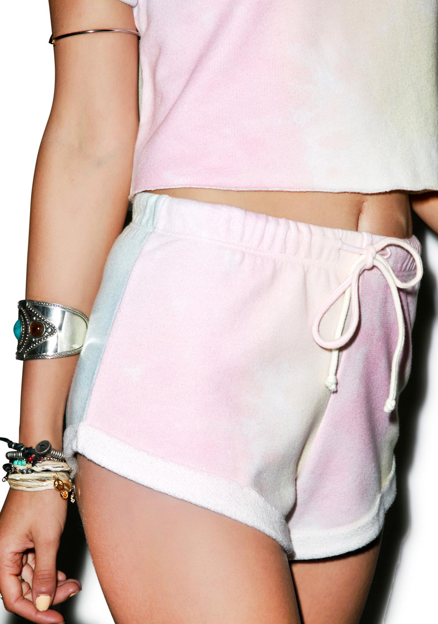 Wildfox Couture Dream Tie Dye Gym Short Shorts