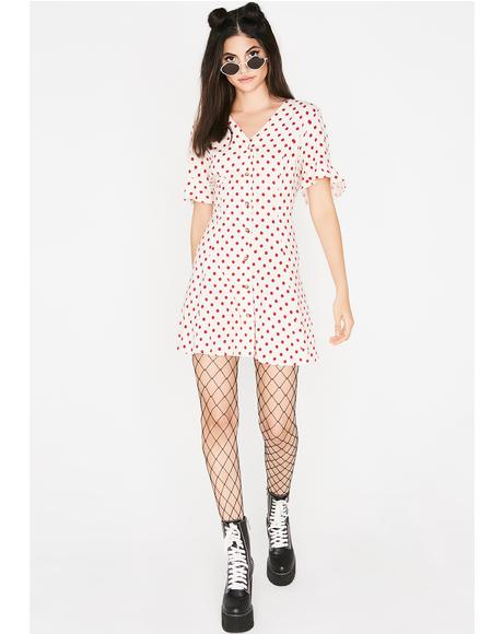 Good Manners Polka Dot Dress