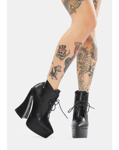 The Wave Heeled Booties