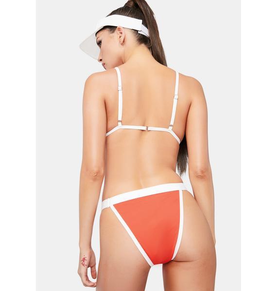 Dippin' Daisy's Red Ace Bikini Bottoms