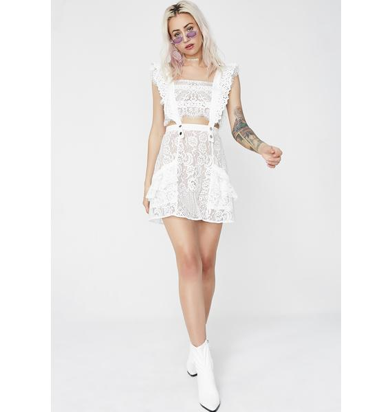 For Love & Lemons Tati Pinafore Lace Dress
