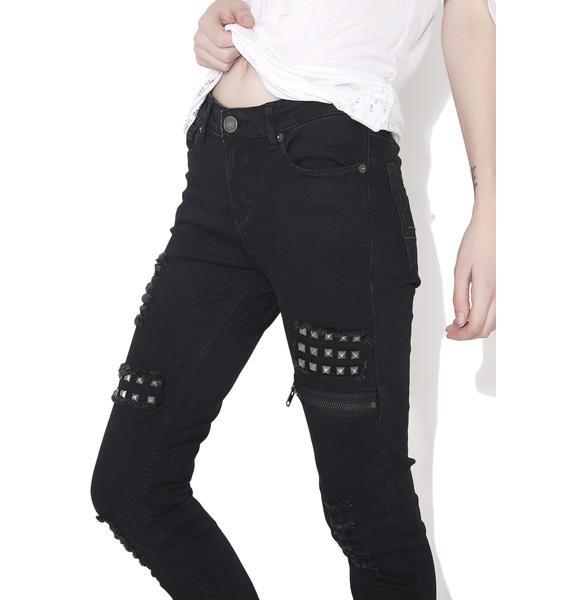 Killstar Lithium Ripped N' Skinny Jeans