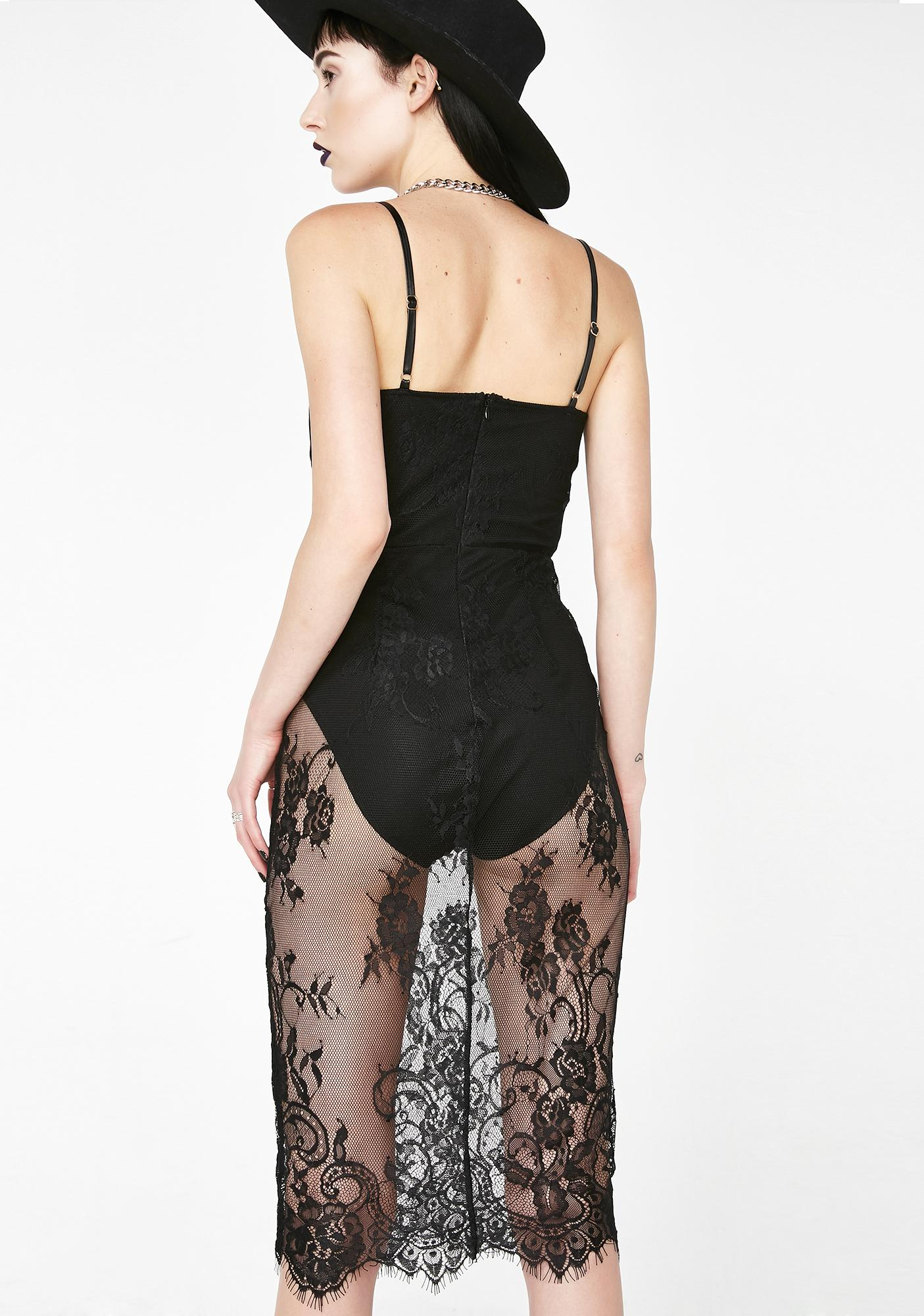 Lady Of The Night Lace Dress