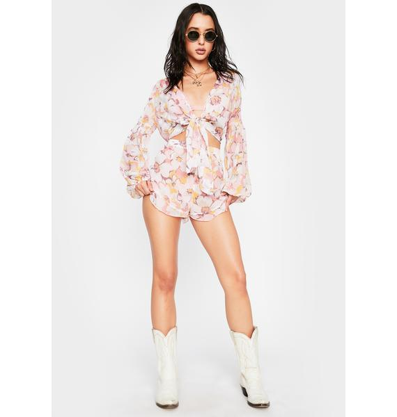Power 2 the Flower Foxy Lounge Shorts