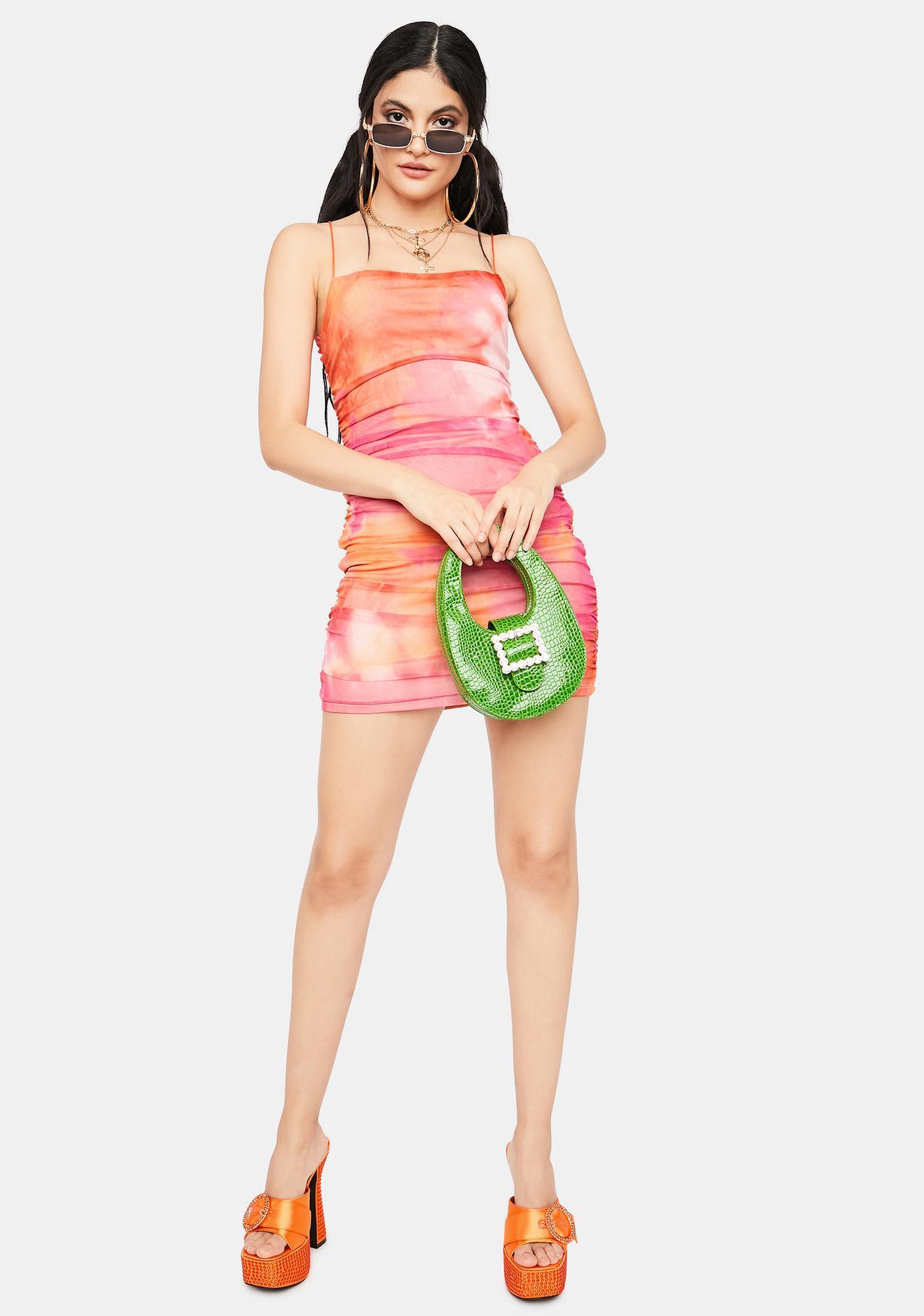 Get My Permission Tie Dye Mini Dress