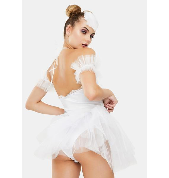 Dolls Kill Goody Two Shoes White Swan Costume