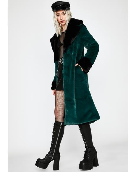 Precious Secret Faux Fur Coat