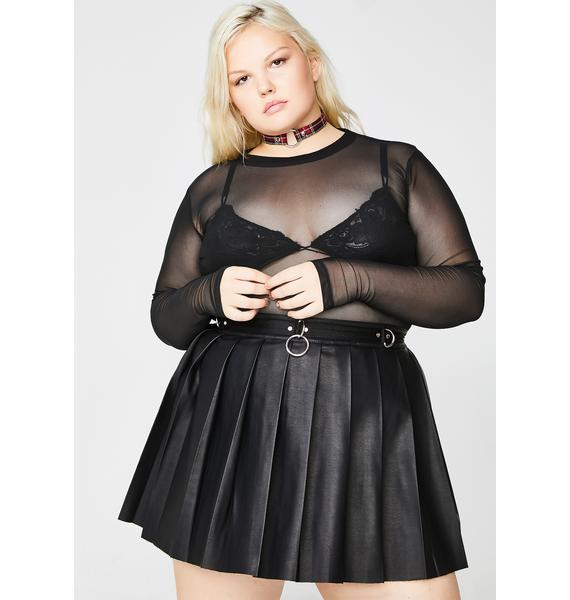 Current Mood Ace Of Spade Pleated Skirt
