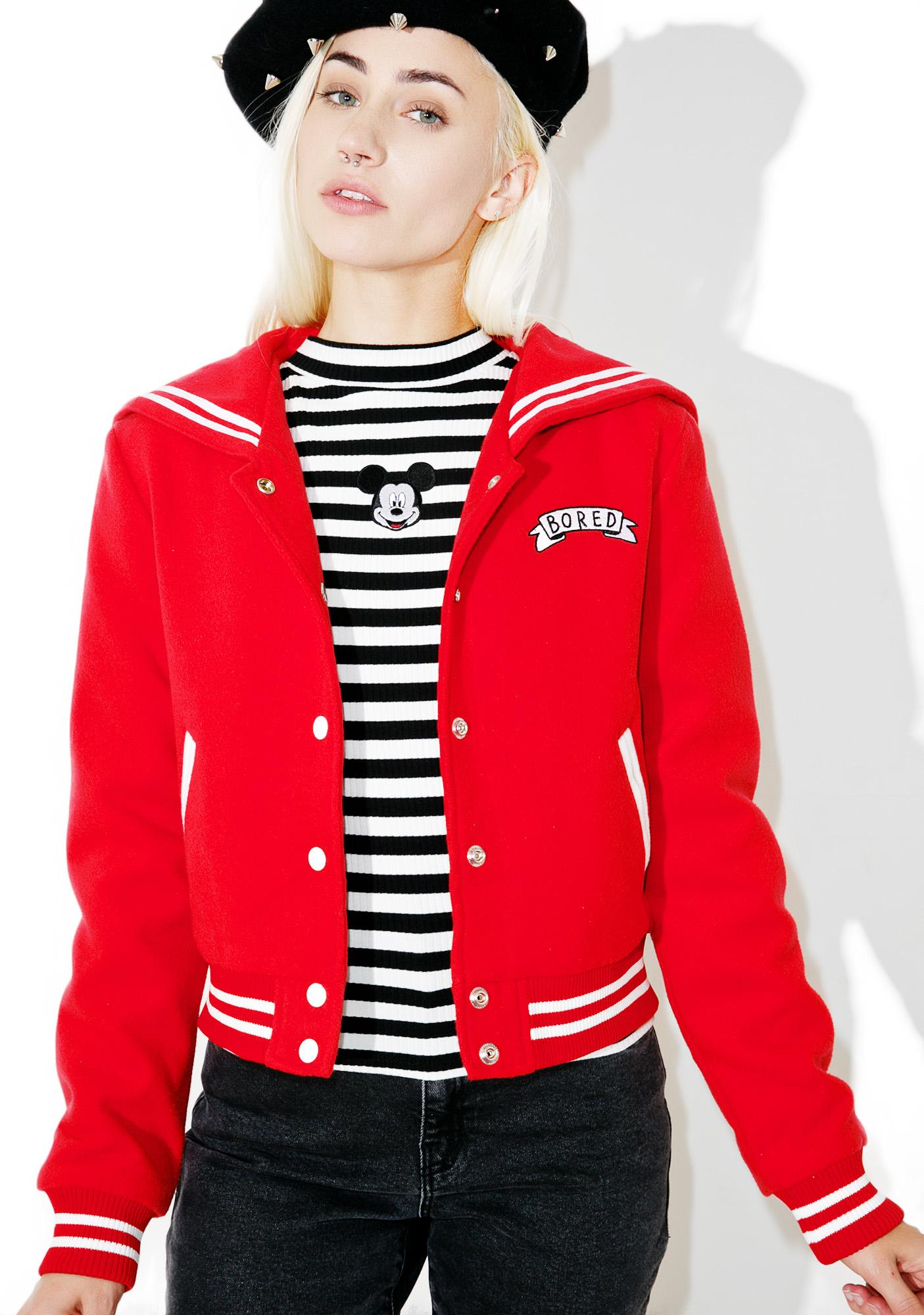 Lazy Oaf Bored Varsity Jacket