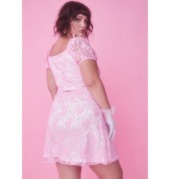Sugar Thrillz Her True Love's Kiss Lace Dress