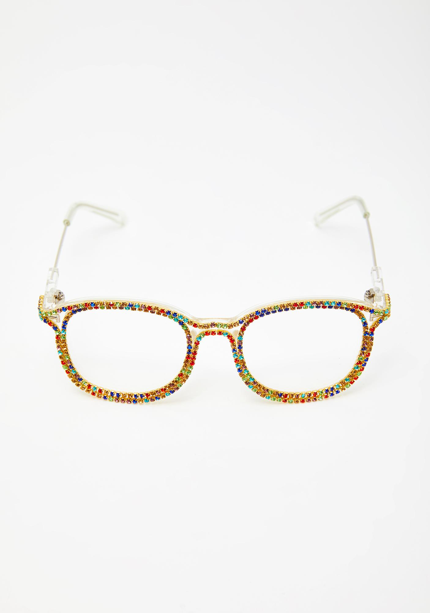 Primary Diva Dilemma Rhinestone Glasses