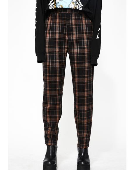 Right Reasons Plaid Pants