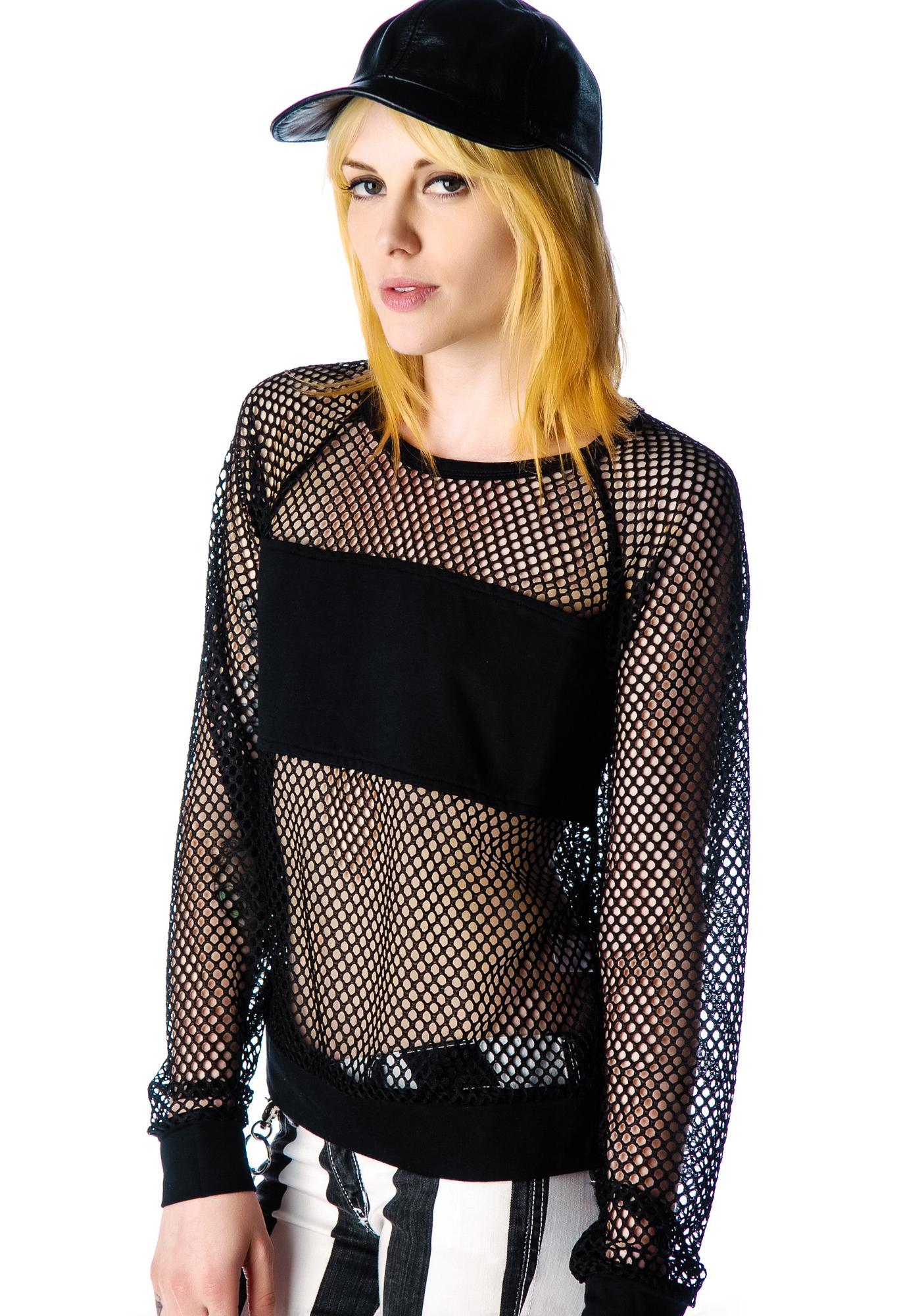 Nothing But Net Mesh Pullover | Dolls Kill