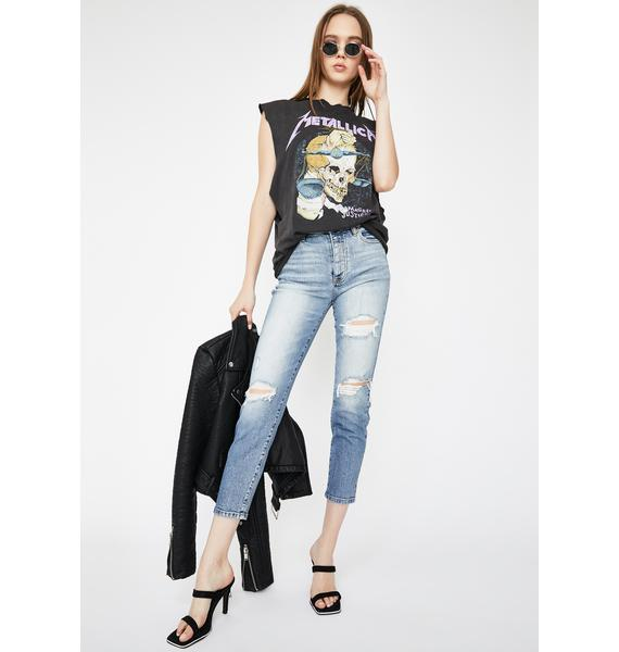 Daze Original Distressed Skinny Jeans