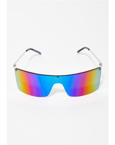 On Blocked Shield Sunglasses