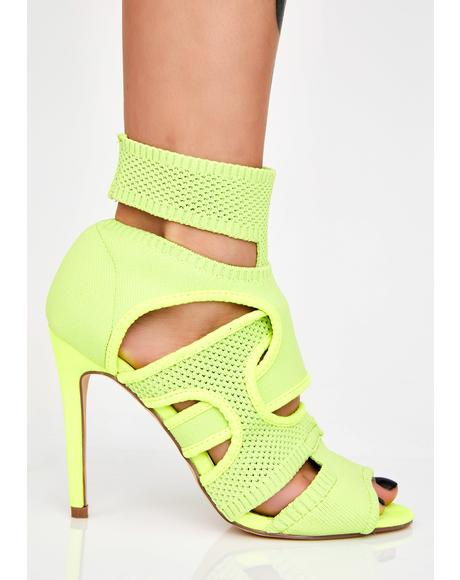 Lime I Like You Cutout Heels