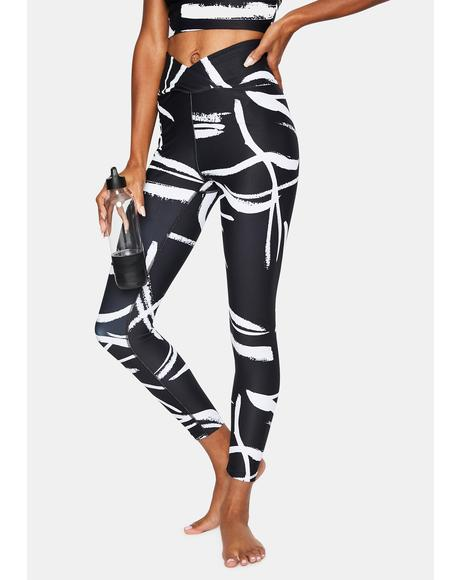 Night Abstract Veronica Leggings