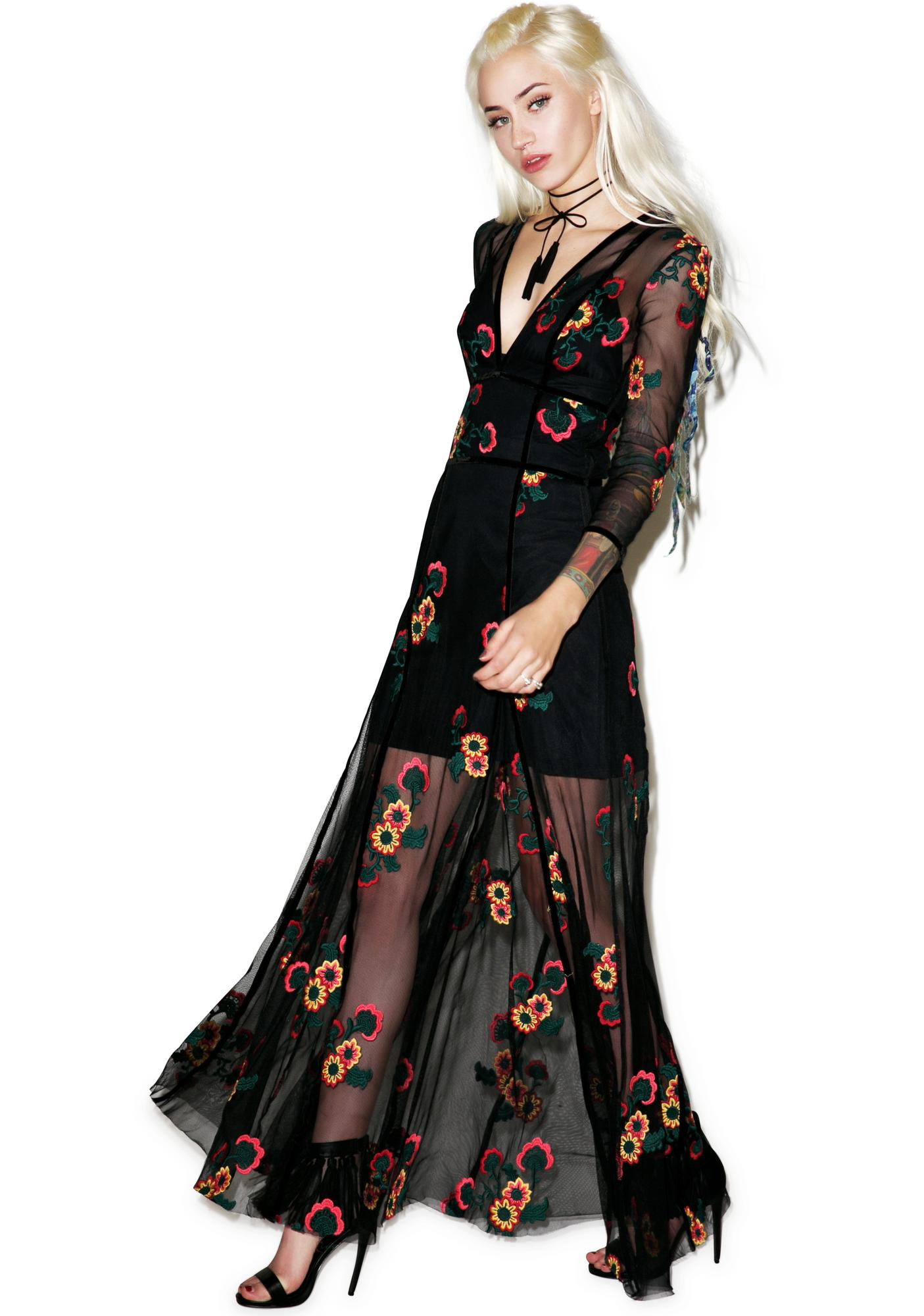 711de30a13 For Love & Lemons Elenora Maxi Dress | Dolls Kill