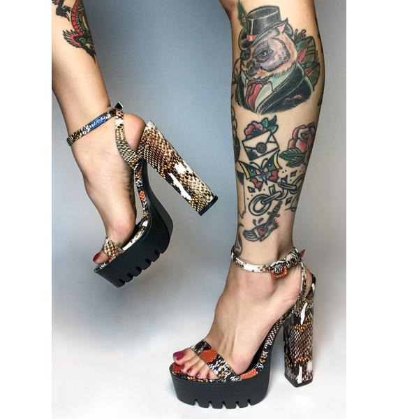 In The Wild Snakeskin Heels