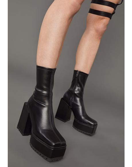 Disappearing Act Platform Boots