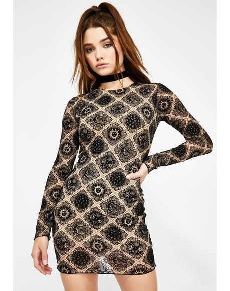 Wyanna Celestial Print Dress