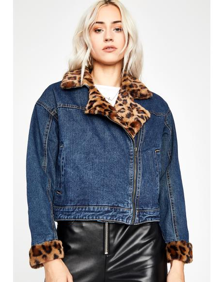 Fierce Cat Denim Jacket