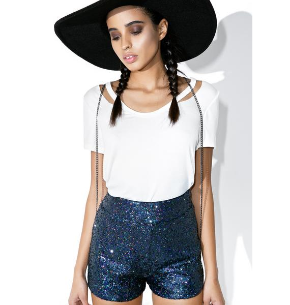 Arctic Tap Sequin Shorts