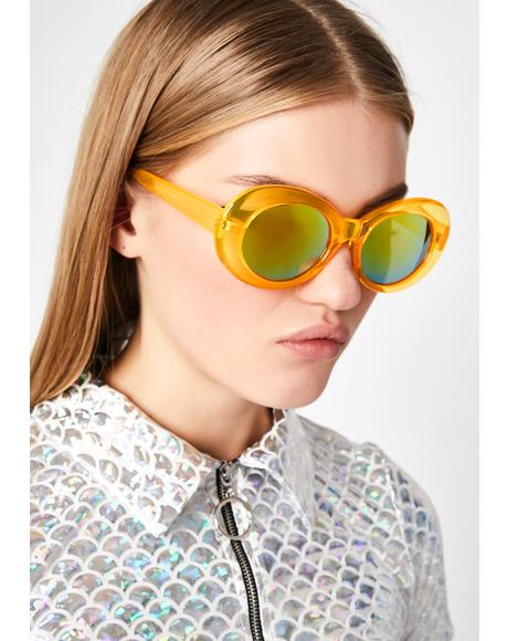 Juicy Liquid Neon Oval Sunglasses