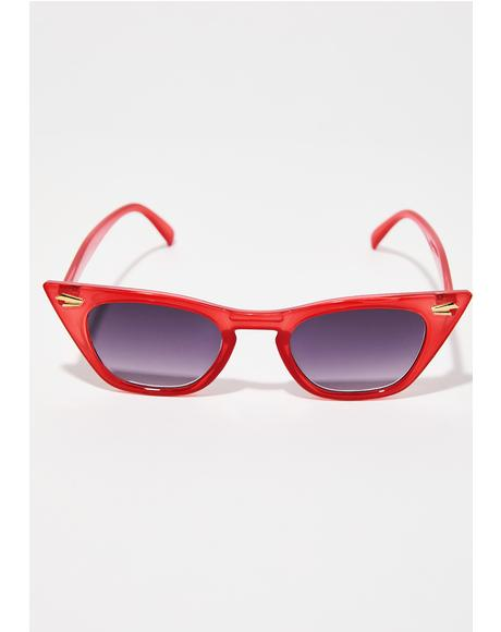 Fire Down For It Cat Eye Sunglasses