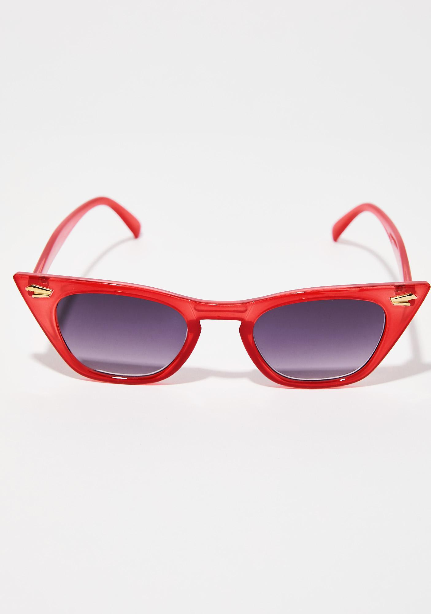 Fire Down For It Cat Eye Sunglasses