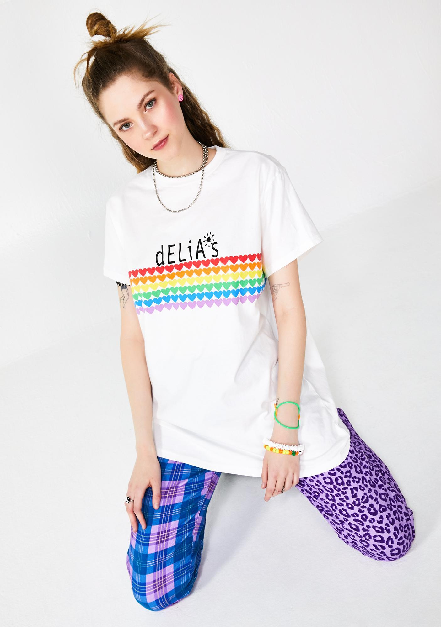 dELiA*s by Dolls Kill Rainbow Crush Oversized Tee