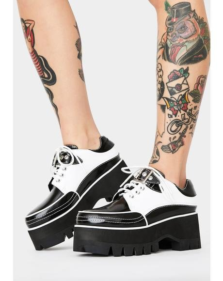 Rude Rebellion Platform Oxfords