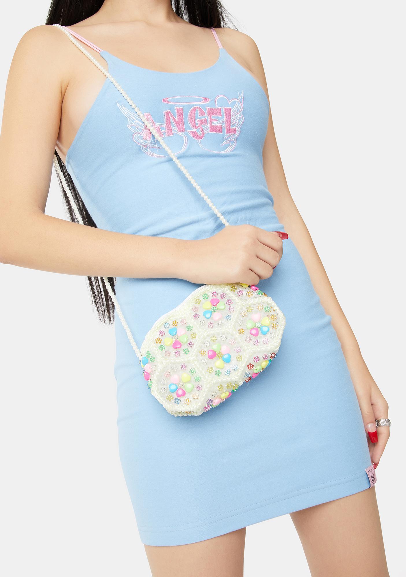 Angel As You Like Beaded Handbag