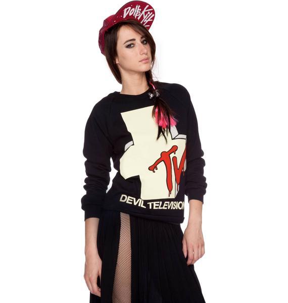 Devil Television Crew Sweatshirt