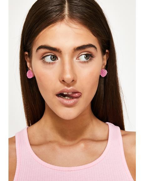 Sweet To Eat Heart Earrings